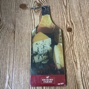 NEW Vintage Hickory Farms Glass Cheese Board 1980s